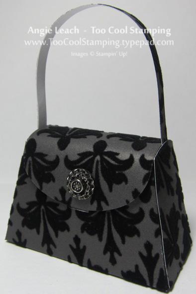 Purse - black velvet