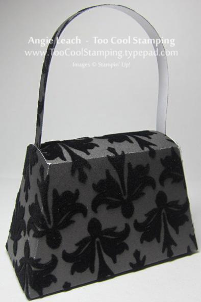 Purse - black velvet back