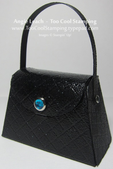 Purse - black patent leather