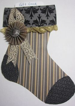 Mocha stocking 1