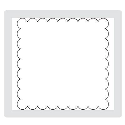 Scallop square die 115950L