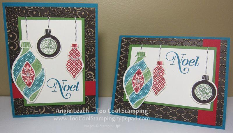 Noel ornaments - two cool