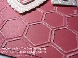 Hearts a flutter banner - honeycomb 2