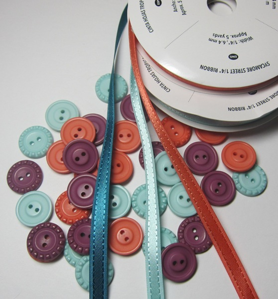 Sycamore street ribbon button pack
