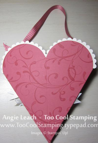 Heart pouch - chevrons 6