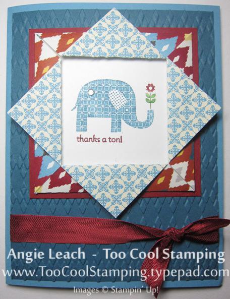 Folded frame - elephant