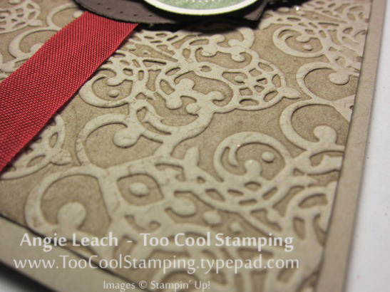 Holly embossed - background