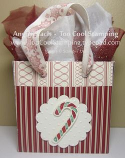 Gift bag - candy cane