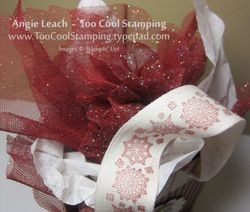 Gift bags - candy cane tulle