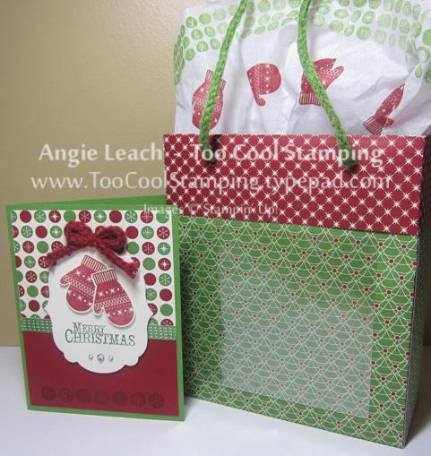 Lg gift bag - mittens card