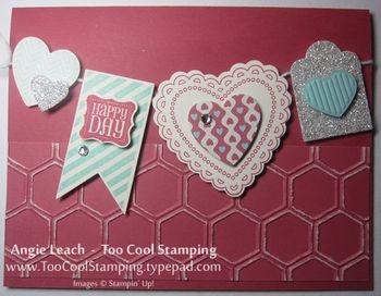 Hearts a flutter banner - honeycomb