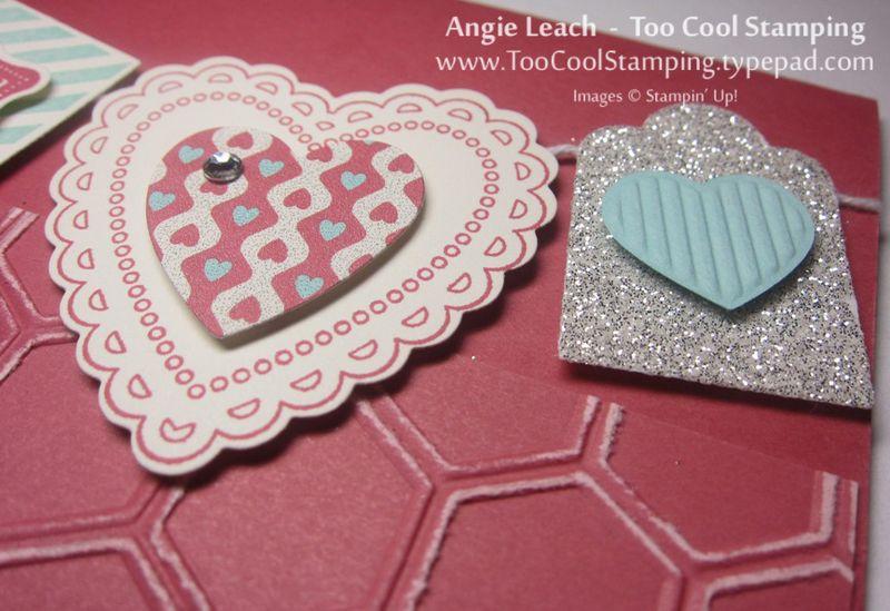 Hearts a flutter banner - honeycomb 4