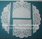 Shoebox - doily cuts