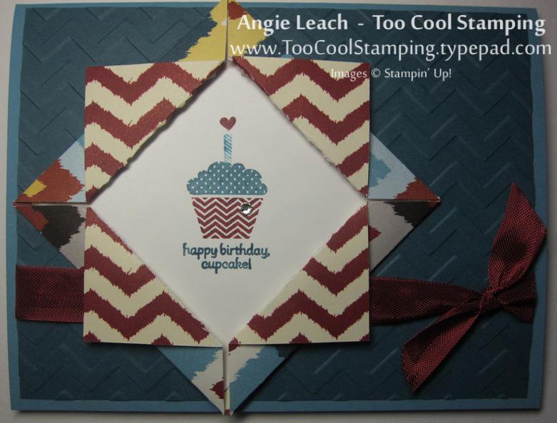 Folded frame - cupcake