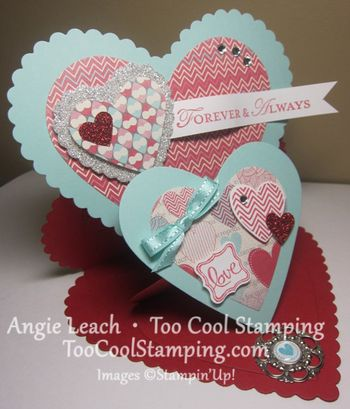 Double easel valentine - angie