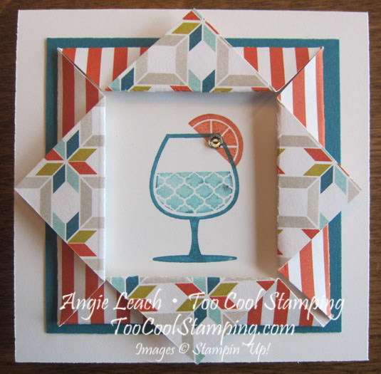 Happy hour folded frames - quilt