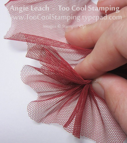 Tulle bow - scrunch