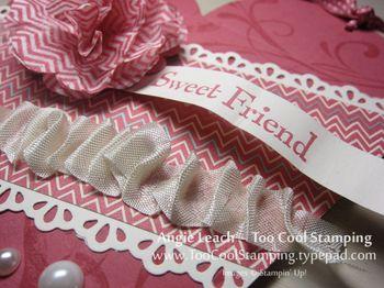 Heart pouch - chevrons 3