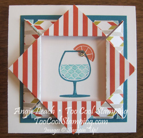 Happy hour folded frame - stripes