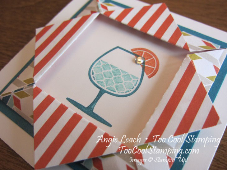 Happy hour folded frame - stripes 2