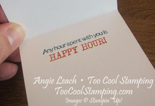 Happy hour folded frame - inside