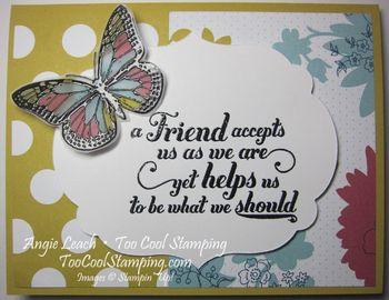 Butterflies stained glass - friend