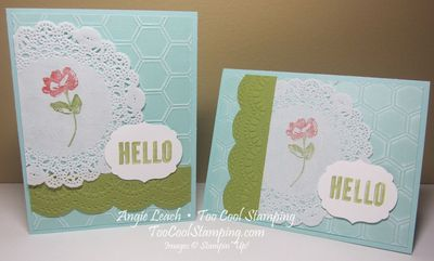 Hello doily flower - two cool