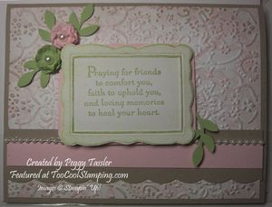 Peggy - thoughts frame sympathy copy