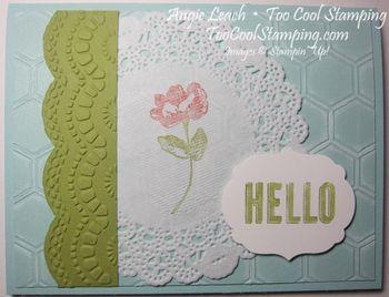 Hello doily flower - h