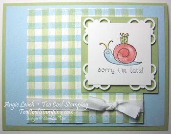 Gingham events green - snail