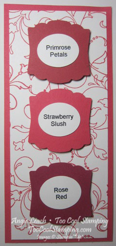 In color swatches - strawberry