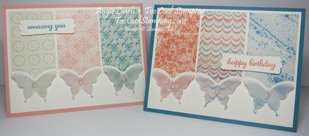 Venetian vellum butterflies - two cool