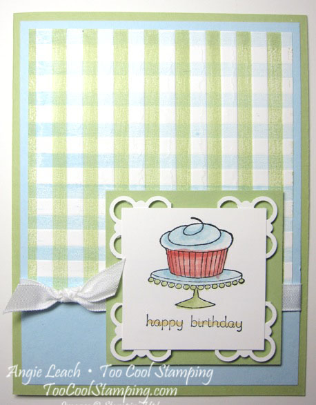 Gingham events green - cupcakeJPG