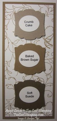 In color swatches - brown sugar