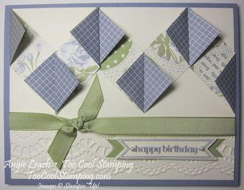 Diamond fold - wisteria