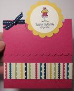 Birthday fancy fold - trudy freas