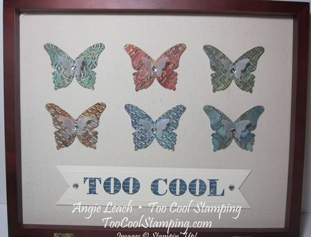 Faux patina - butterflies