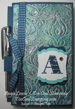 Faux patina - post it holder