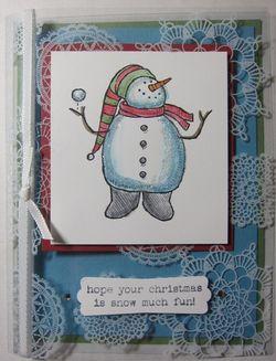 Snow much fun window card