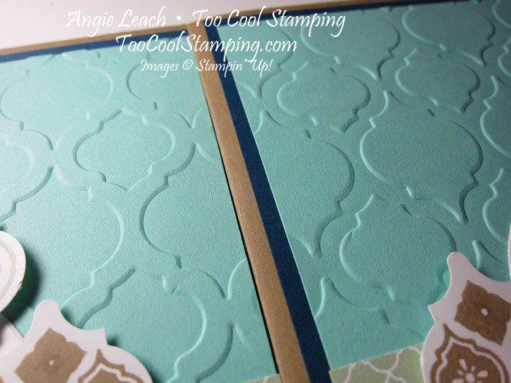Mosaic jewels - two cool embossing