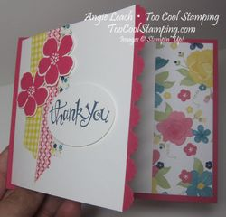 Gingham fold - thank you 2