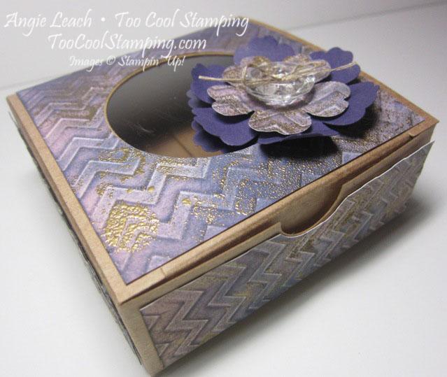 Faux patina - purple box 1