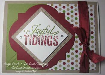 Christmas messages window frame - tie h