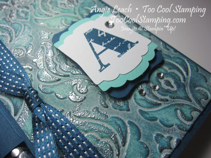 Faux patina - post it holder 2