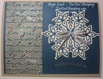 Pretty prints blue - snowflake