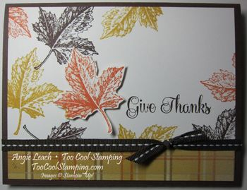 Give thanks leaves - tangerine