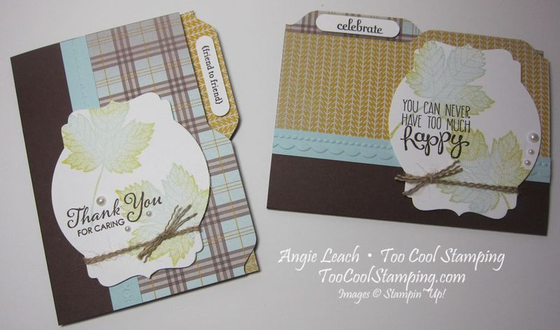 Maple file folder cards - two cool