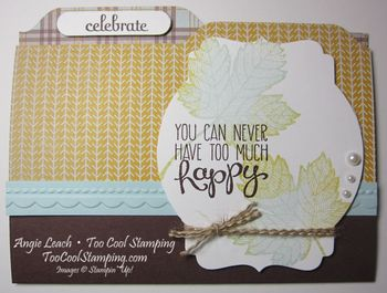 Maple file folder cards - celebrate
