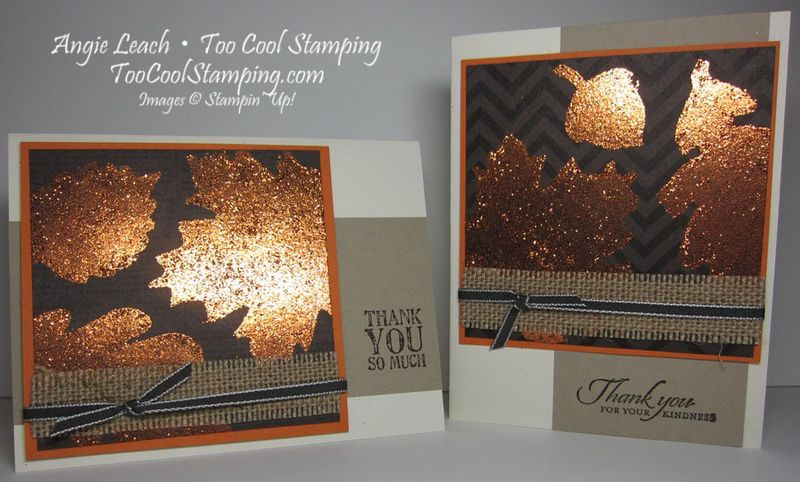 Burnished glitter - two cool