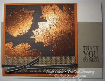 Burnished glitter - thank you